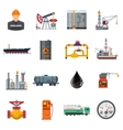 Oil industry Flat Icons Set vector image vector image