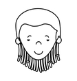 jamaican woman character icon vector image