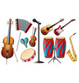 Different types of classical instruments vector image