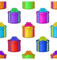 Seamless background with gift boxes vector image vector image