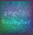 english language pattern vector image