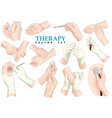 therapy set vector image vector image