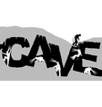 Caving vector image vector image