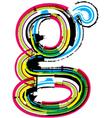 Grunge colorful font Letter g vector image vector image