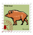 stamp with animal vector image vector image