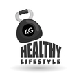 Flat of healthy lifestyle design vector image