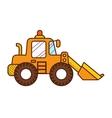 Excavator Dozer Digger Tractor vector image