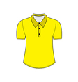 Blank shirt with short sleeves template vector image