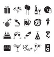 celebration and party icons with white background vector image