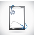 Clipboard with Stethoscope vector image