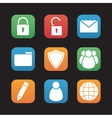 File manager flat design icons set vector image