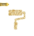 Gold glitter icon of roller isolated on vector image