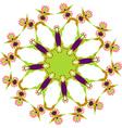 Hand-drawn colored mandala zentangl Holi festival vector image