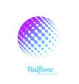 logo halftone design element vector image