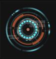 technological communication digital interface vector image