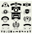 Trophies awards banners ribbons and labels vector image