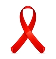 AIDS red ribbon vector image vector image