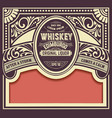 Whiskey card with old frame vector image