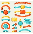 Banners ribbons badges tags and labels vector image vector image