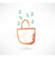 earnings grunge icon vector image vector image