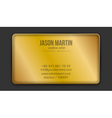 Golden creative business card vector image