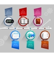 Time Management Infographics vector image vector image