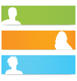 people avatar banners vector image vector image