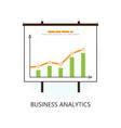 Flat Colored Statistics and Analytics Icon vector image