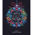 Christmas tree toy neon vector image vector image