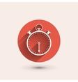 Stopwatch minimal icon vector image