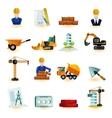 Architect Icons Set vector image