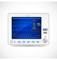 ECG machine vector image
