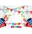 Happy birthday background with confetti vector image