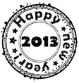 Happy new year 2013 stamp vector image