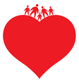 icon of family vector image