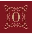 Monogram letter O Calligraphic ornament Gold vector image