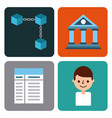 set of icons blockchain business digital access vector image