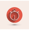 Stopwatch minimal icon vector image