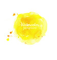 watercolor yellow abstract hand painted background vector image