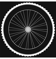 Bike wheel - isolated on black background vector image vector image