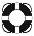 Lifeline icon simple style vector image