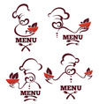 cook and food vector image vector image