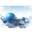 Christmas background with xmas ornaments vector image