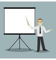 flat design businessman pointing presentation vector image