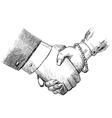 Business handshake man and woman vector image