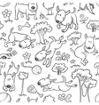 seamless with dogs vector image