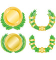 laurel wreath and medal vector image vector image
