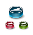 3d glossy loudspeaker as announcement icon vector image