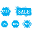 winter christas new year sale labels set vector image