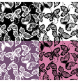 butterflies seamless 380 vector image vector image